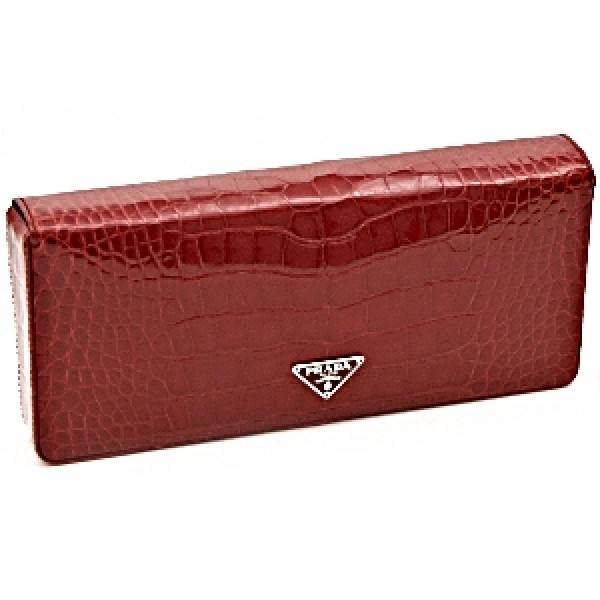 Jemznjewels Prada Clutches Prada Red Crocodile