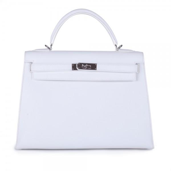 615fc8e1460e Hermes 32cm Epsom Kelly Bag With Palladium Hardware