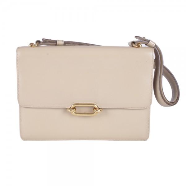 Hermes Vintage Beige Box Calf Oval Day Bag f8e303bfe559c