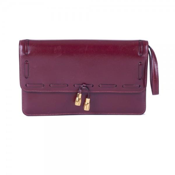 Hermès Vintage Rouge Envelope Bag db33db5ce7964