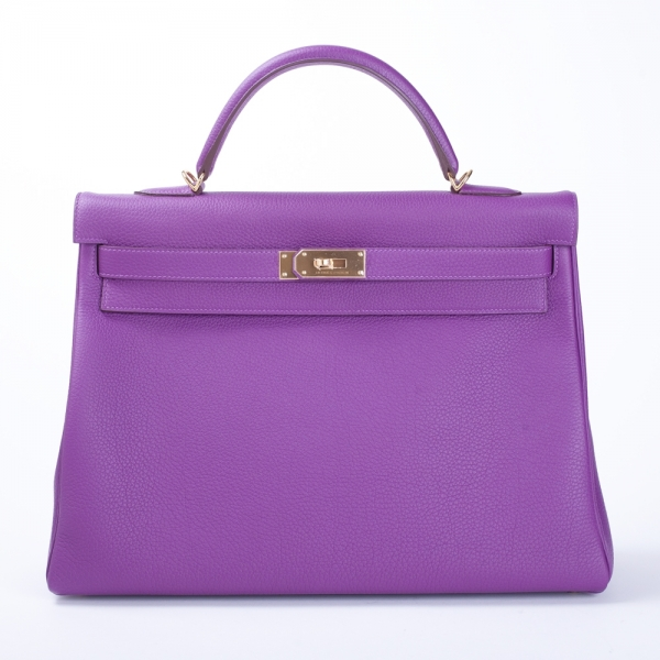 c53c5df162 Hermès 40cm Kelly Bag Anemone Togo with Gold Hardware