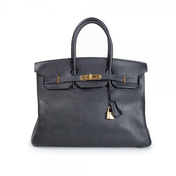 hermes birkin bag 30cm blue paradise clemence gold hardware
