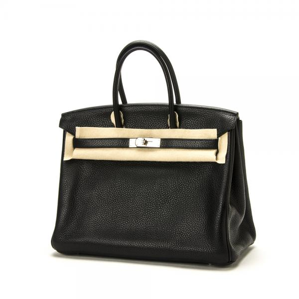 Hermes 35cm Black Togo Birkin Bag With Palladium Hardwar. 8e73355652099