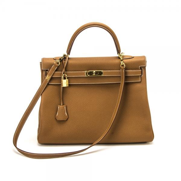 c8298ad996db Hermes 35cm Gold Togo Kelly Bag with Gold Hardwa.