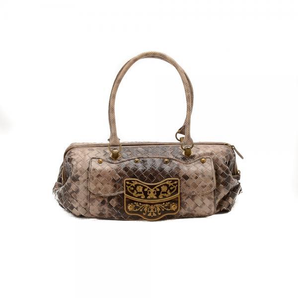 e940730c718 Bottega Veneta Intrecciato Lizard Mini Boston Bag